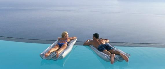 COUPLE IN GREEK ISLAND