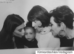 Kim K Kisses North, North Just Wants To Eat M&Ms