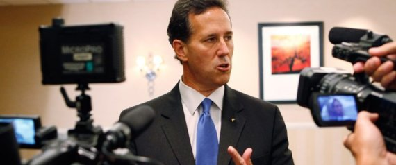 Rick Santorum in Iowa, Huffington Post image