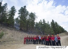 Prime Minister Visits Crews Battling West Kelowna Wildfire