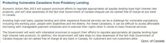federal budget predatory lending