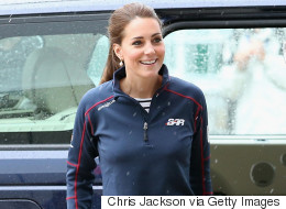 Kate Middleton Goes Sporty Chic For First Public Outing Since Princess Charlotte's Birth
