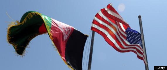 Afghanistan Us Flags