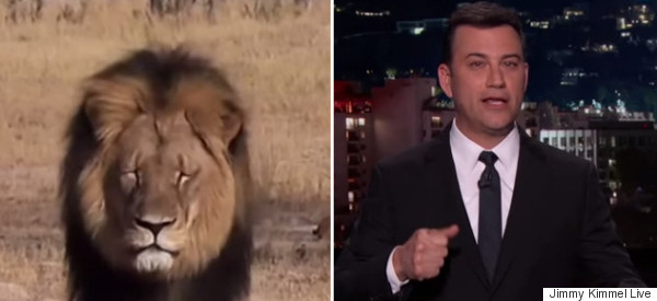 Jimmy Kimmel Fights Back Tears In Funny But Emotional 'Cecil The Lion' Segment