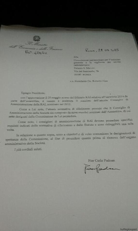 lettera padoan