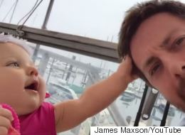 Adorable Baby 'Interrogates' Her Uncle