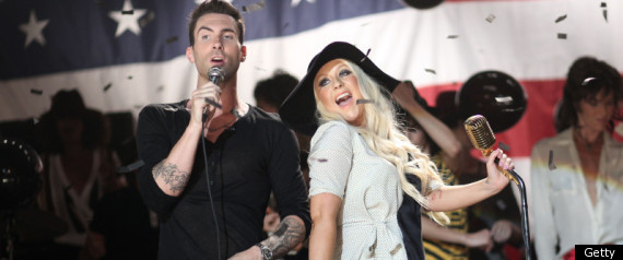 ADAM LEVINE CHRISTINA AGUILERA MOVES LIKE JAGGER V
