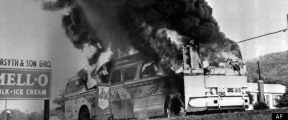 FREEDOM RIDERS BUS BURNING