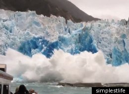 Sawyer Glacier Break Off