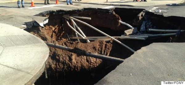 A Giant Sinkhole Just Appeared In Brooklyn And Devoured An Entire Junction