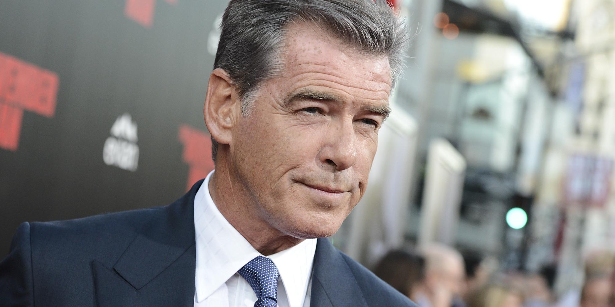 Pierce Brosnan Stopped...