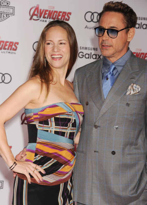robert downey jr with his wife