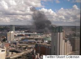 40 Firefighters Tackle Huge Blaze Close To Birmingham Bullring