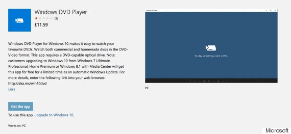windows 10 dvd player