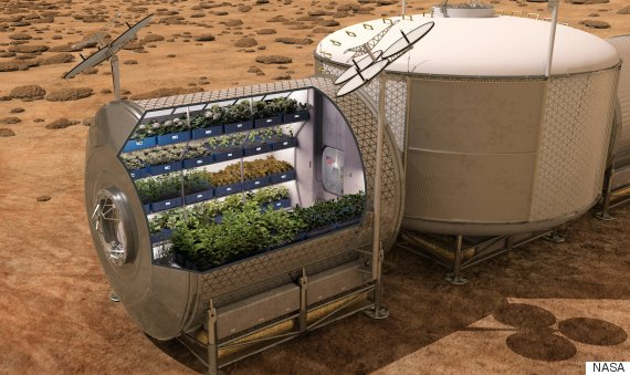 nasa space food farming