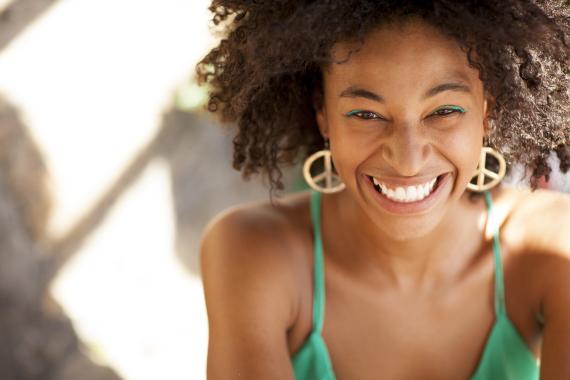 black woman sun