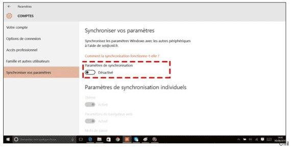 donnees personnelles windows 10