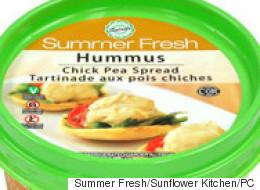 Les hummus classés selon leur teneur en sel