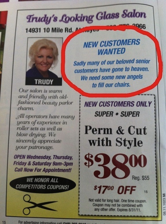 Creepiest Beauty Salon Ad Ever (PICTURE) | HuffPost
