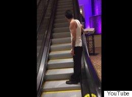Drunk Guy Vs Escalator