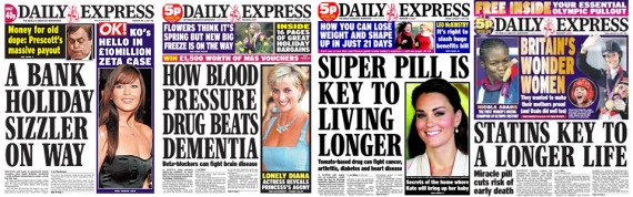 daily express front pages
