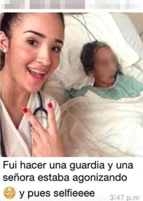 selfie with patient
