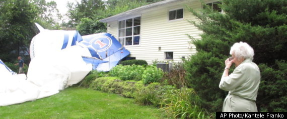 Blimp Crashes In Womans Yard