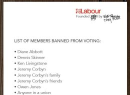 LEAKED: List Of People Banned From Voting In Labour Leadership Election