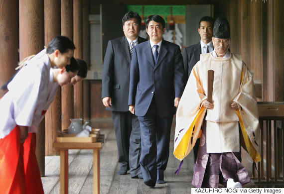 shinzo abe yasukuni shrine