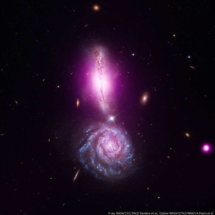 Colliding Galaxies Form Exclamation Point In Space (PHOTO ...