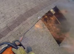 Dizzying GoPro Footage Captures Heroic Firefighter Battling Blaze In Family Home