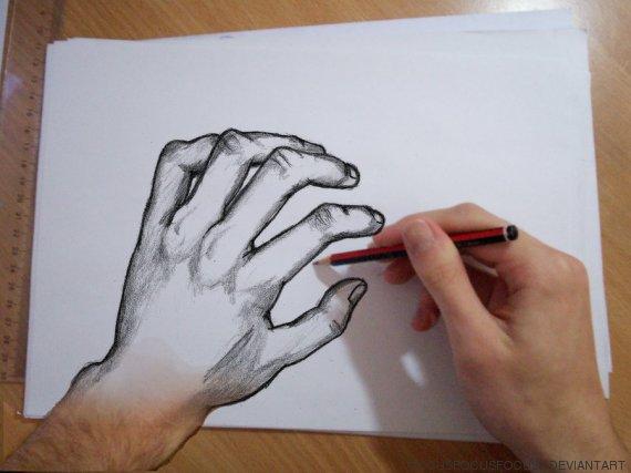 dibujo mano izquierda