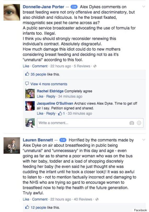 alex dyke breastfeeding comments