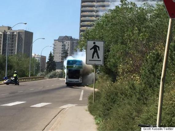 edmonton bus fire