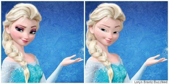 Voyez les princesses sans maquillage frozen