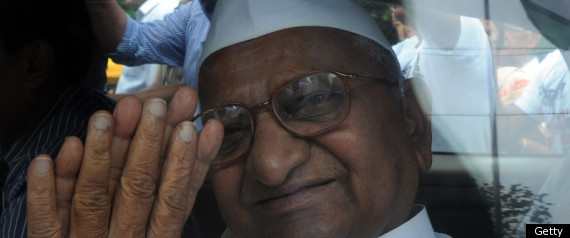 Anna Hazare Hunger Strike Corruption