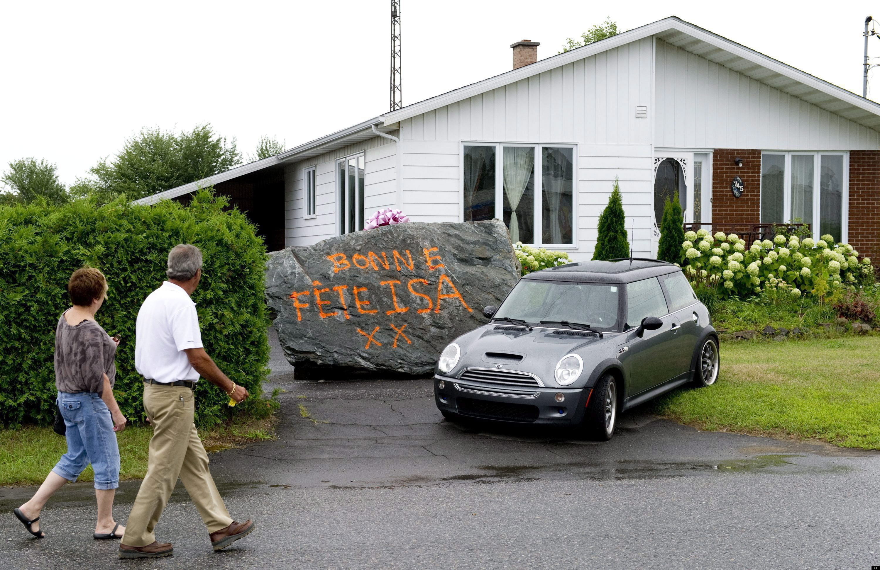 Dany Lariviere Quebec Mayor Gives ExWife A 20Ton Boulder As