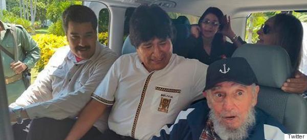 Fidel Castro y Nicolás Maduro sorprendieron a Evo Morales