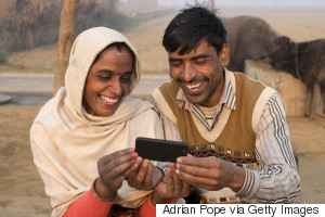 rural india mobile phone