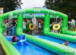 «Slide the City»: Une glissade d'eau géante au coeur de Montréal