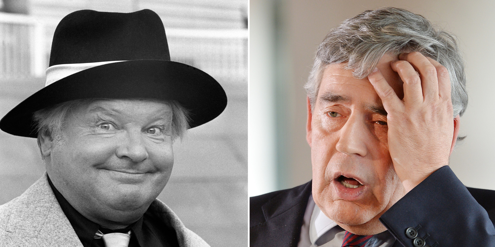 Gordon brown with benny hill music is just too good the huffington