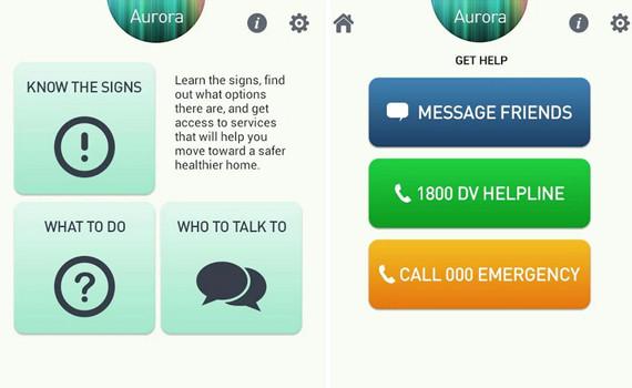 domestic violence app
