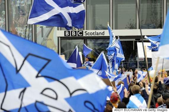 bbc scotland protest