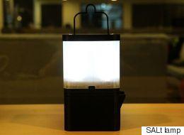가난한 농촌을 위한 소금물 램프(사진, 동영상)