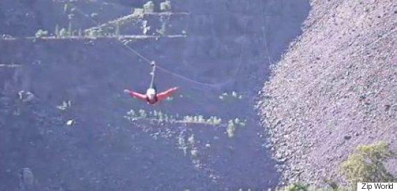 stuntman biggest zipwire
