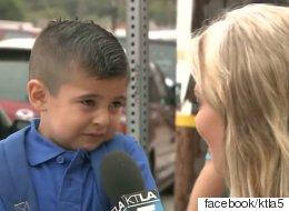 첫 등교 날 인터뷰에서 눈물 흘린 아이의 근황