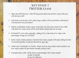 Barely Anyone Passed The GCSE Twitter Exam