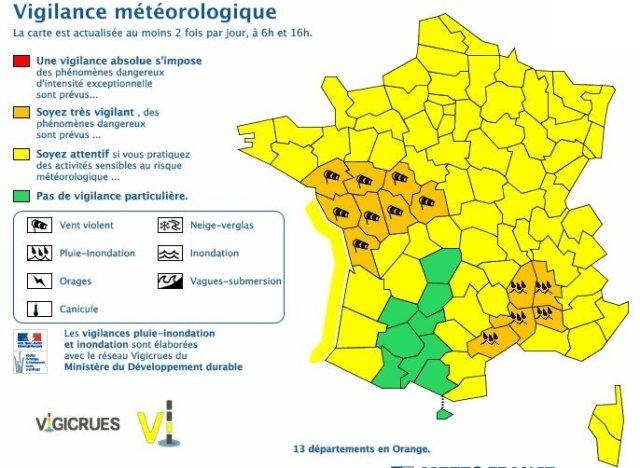 alerte meteo herault