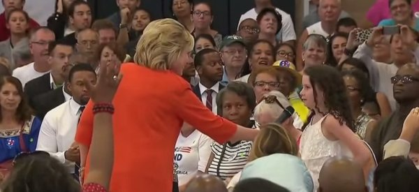 Little Girl Asks Hillary Clinton If She'll Be Paid 'The Same As A Man' As President