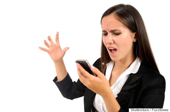 angry phone